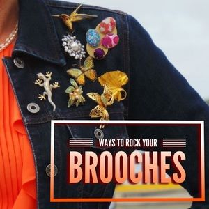 Ways to Rock Your Awesome Vintage Brooches!